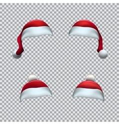 Santa red hat template vector image