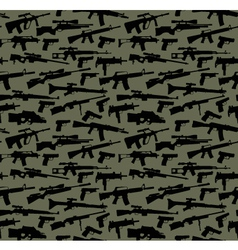 Weapon seamless background vector image