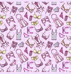 hand drawn icons underwear vector image