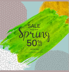 abstract design spring sale banner template vector image