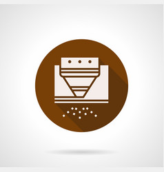 Steel processing brown round icon vector