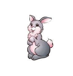 Hare in cartoon style vector