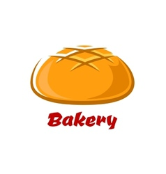 Round bread with baked crust vector