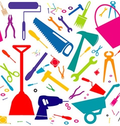 Seamless background with diy tools or home repair vector