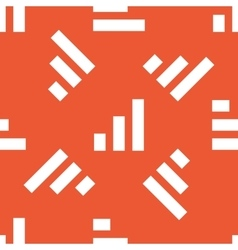 Orange volume scale pattern vector