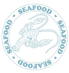 Seafood stamp with cancer vector