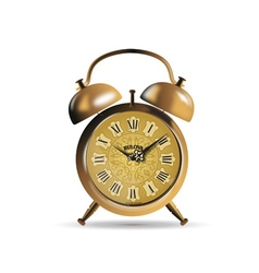 Clock antique gold vector