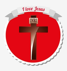 I love jesus design vector
