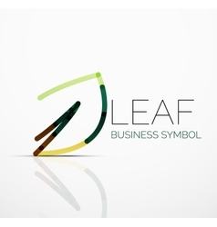 Abstract logo idea eco leaf nature plant vector