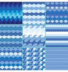 Sea waves pattern summer pattern vector