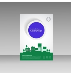City design brochure template vector