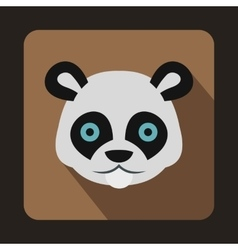 Head of panda icon in flat style vector