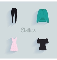 Abstract clothes objects vector