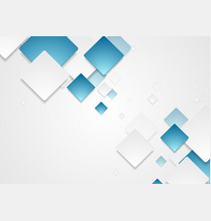 Abstract geometric tech paper squares design vector