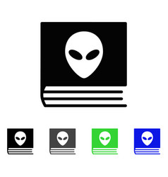 Alien catalog flat icon vector