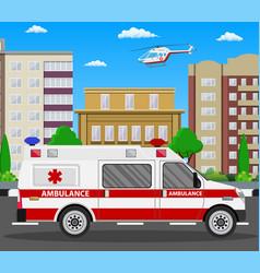 ambulance car emergency vehicle vector image