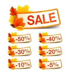 Autumn Sale Tags vector image vector image