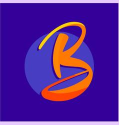 b logo design vector image