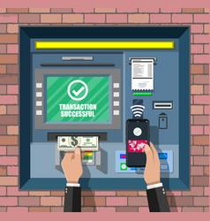 Bank atm automatic teller machine vector