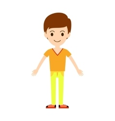 Beautiful cartoon fashion boy vector