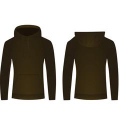 brown hoodie vector image