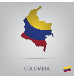 colombia vector image