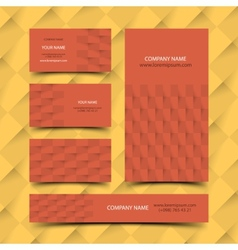 Construction business card set vector