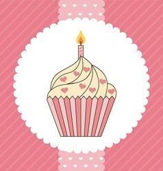 Cupcake design vector