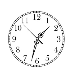 Dainty clock dial face vector