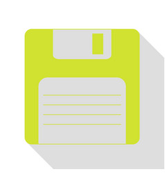 Floppy disk sign pear icon with flat style shadow vector