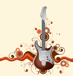 guitar on a background vector image vector image