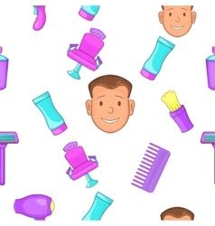 Hair cut pattern cartoon style vector
