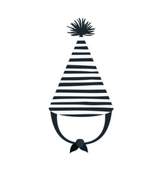 Hand drawing monochrome party hat with several vector