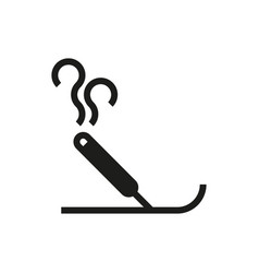 Incense icon on white background vector