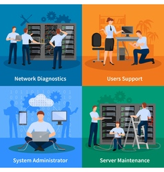 IT Administrator 2x2 Design Concept vector image