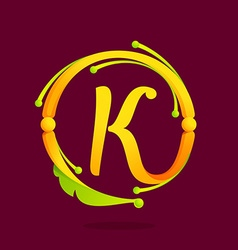 K letter monogram design elements vector