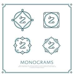 Letter z monogram vector