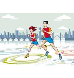 London Marathon Runners vector image vector image