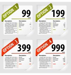 Options frames vector