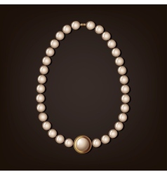 pearl necklace - vector image