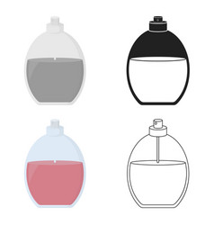 perfume icon in cartoon style isolated on white vector image