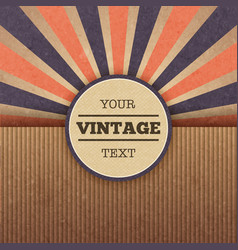Retro sunburst cover layout vector image