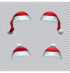 Santa red hat template vector image vector image
