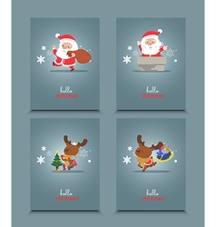 Set of cute christmas character vector