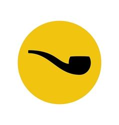 Smoking pipe silhouette vector image