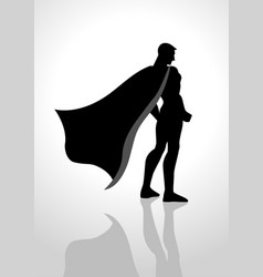 Superhero from back view vector
