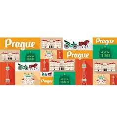Travel and tourism icons prague vector
