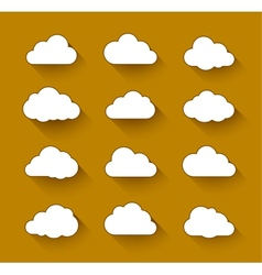 White clouds with long shadow vector image vector image