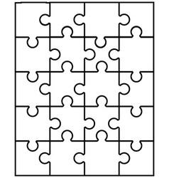 White puzzle 10 vector