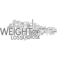 Women s health and weight loss tip lose weight to vector